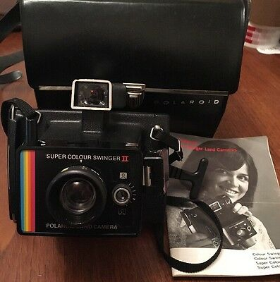 Vintage Polaroid Super Colour Swinger II Land Camera, Good Condition in Case