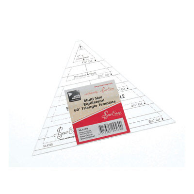 Sew Easy NL4169 | Transparent Triangle Multi-size Quilt Template | 1-4.5in