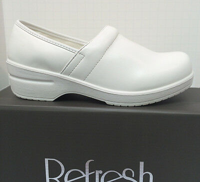 Nurse Comfort Clogs Womens Uniform White Color Full Heel Coverage New Box 5.5-11