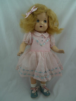 """Canadian Composition Doll RELIABLE all Original DRESS & SHOES 15"""" Tall Mohair"""