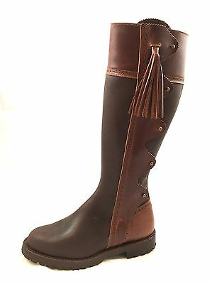 Beautiful Hand Made Brown Leather Spanish Riding Boots Size 6
