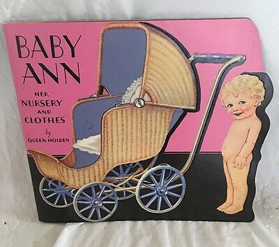 Baby Ann Nursery & Clothes Queen Holden PAPER DOLL BOOK 1985