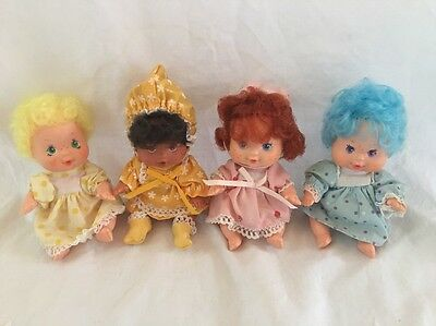 4 Vintage BERRY BABY DOLLS Strawberry Shortcake Orange Blossom Lemon Blueberry