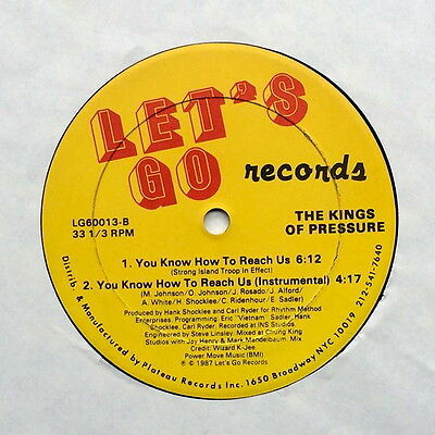 THE KINGS OF PRESSURE You Know How To Reach Us GIVE ME THE MIKE Hip hop 12inch