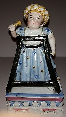 Staffordshire Victorian Two-piece Royal Infant Dresser Box, 1877, REDUCED!