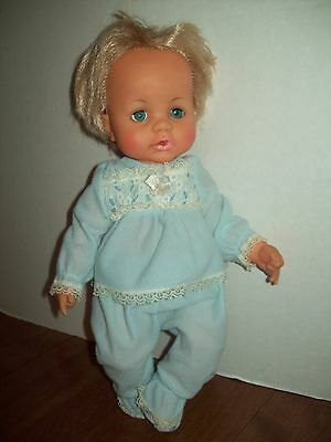 """Ideal Vinyl Doll  Baby 1971 Toy 12"""" Betsey Wetsey or Tiny Tears Type"""