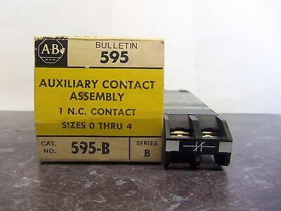 New Allen Bradley 595-B Auxiliary N.c. Contact For Sizes 0-5 Series B Nib