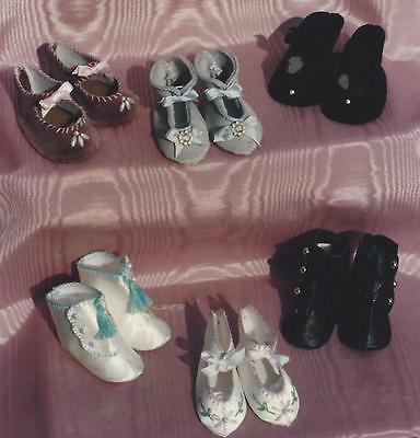 All Size (3 Styles)Antique French-German Doll Shoes&boot Pattern&instructions