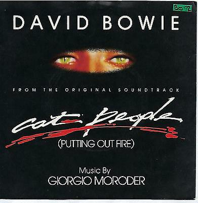"""David Bowie - Cat People (Putting Out Fire) - 7"""" Vinyl Record Single"""