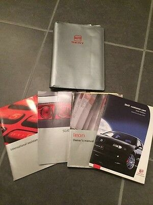 seat leon owners manual handbook wallet inc cupra and r 1999-2006