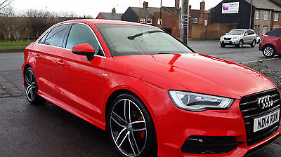 2014 Audi A3 S Line Tdi Red Saloon Stunning Car