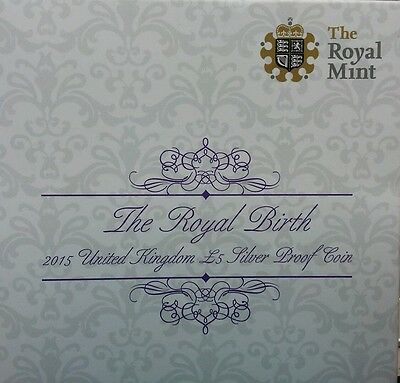 The Royal Mint Royal Birth 2015 United Kingdom £5 Silver Proof Coin