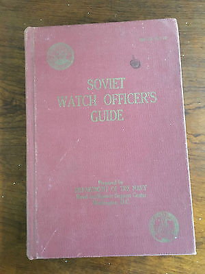 US Navy Soviet Watch Officer's Guide pub 1967 in English Russia