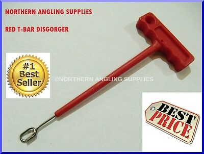 T Bar Disgorger Hook Remover Fish Sea Beach Boat Luggage Accessory Q Shaped RED