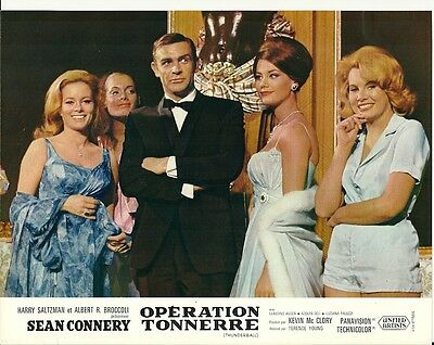 James Bond French Lobby Card - Sean Connery and Bond Girls in Thunderball 1965