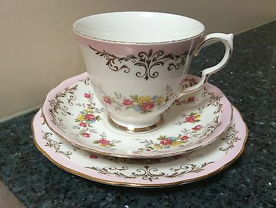 Queen Anne Cup, Saucer & Side Plate - Trio Bone China Made in England