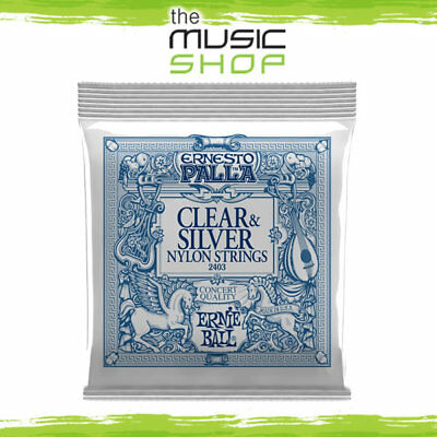 10 x Ernie Ball 2403 Nylon Classical Guitar Strings - Ernesto Palla Clear Silver