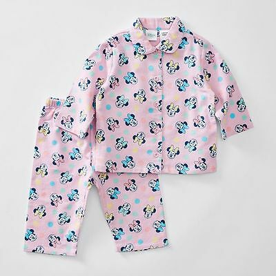 NEW Disney Baby Minnie Mouse Flannelette Pyjama Set