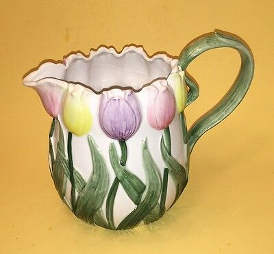 Vintage Fitz and Floyd, OCI Omnibus Japan, Spring Tulip Pitcher - Easter Time