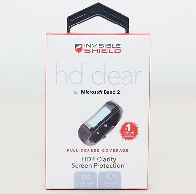 2-Pack) ZAGG Premium Invisible Shield HD Clear Screen Protector Microsoft Band 2