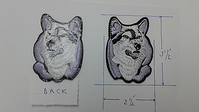"""1 pc Free US shpg IRON-ON Wolf head emb patch 3-1/2x2-1/2"""""""