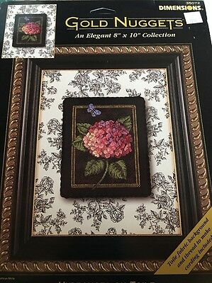 Dimensions Gold Nuggets HYDRANGEA ON TOILE Cross Stitch Kit