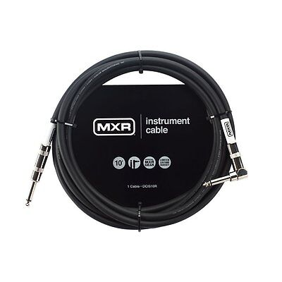 Mxr Dcis10R 10' Noiseless Instrument Cable Straight-Right Angle Jack Guitar Lead