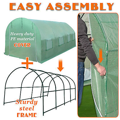 New 20'x10'x7' Larger Greenhouse Replacement Spart Parts COVER/ FRAME