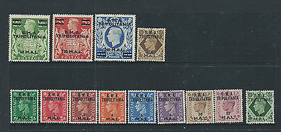 British Tripolitania BMA set 1948  SGT1-T13 Mint Lightly Hinged set of stamps