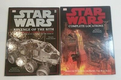 DK STAR WARS Lot of 2 Complete Locations / Revenge Sith Cross Sections Hardcover