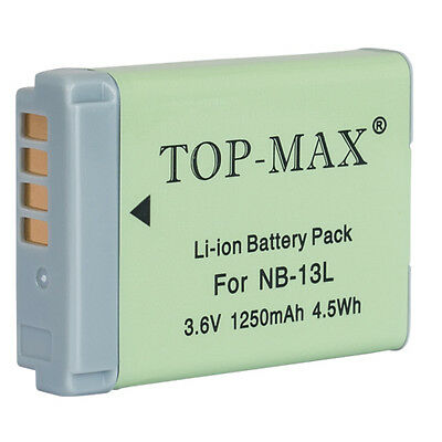 1250mAh NB13L/NB-13L Battery for Canon PowerShot G7 X/G7X