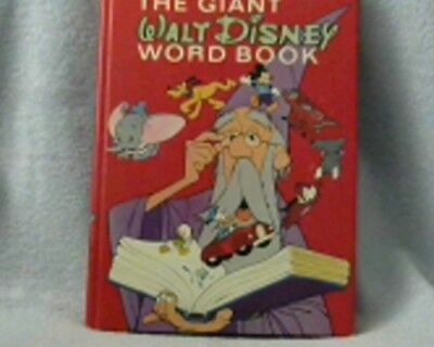 1975 The Giant Walt Disney Word Book Hardcover