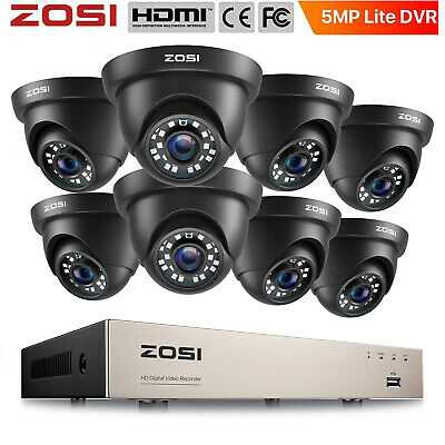 ZOSI 720P 4CH HDMI DVR 1500TVL Outdoor 3.6mm IR CCTV Home Security Camera System
