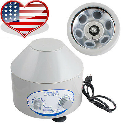 110V Electric Centrifuge Machine 4000rpm Lab Medical Practice & 6x 20ml Rotor US