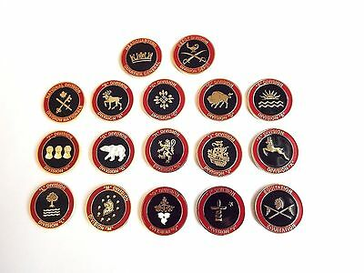 RCMP Division Challenge Coins (Full Set)