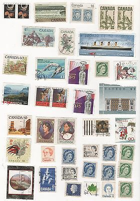 CANADA - SELECTION OF POSTAGE STAMPS  - see 2 pages SCANNED -  mostly used
