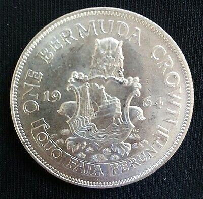 1964 Bermuda (British Colony) Silver Crown, Elizabeth II  - Uncirculated