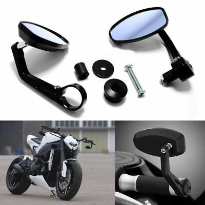 """7/8"""" Bar End Rearview Mirrors For Ducati Monster 620 696 750 796 900 1000 1100"""