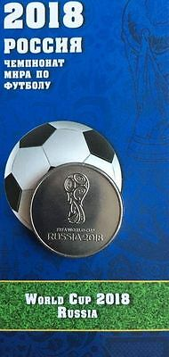 25 rubles 2018  FIFA World Cup Football - 1 coins NEW UNC in album capsule