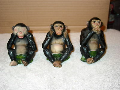 Monkey See No Hear No Speak No Evil Figurine Set (Set Of 3)