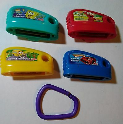 Lot 4 Fisher Price Smart Cycle Game Cartridges and ring
