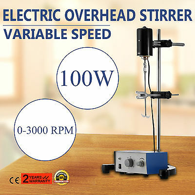 Electric overhead stirrer mixer height adjustble stainless steel laboratory