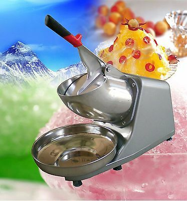 Ice Shaver Machine Ice Crusher Electric Snow Cone Maker Stainless Steel Shaving