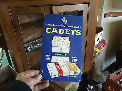Cardboard  Counter Advert From Old Tobacconist Shop  Cadets Gigarettes