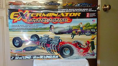 LINDBERG 1/8 Scale Model Car Kit Exterminator Dragster #73408 SEALED