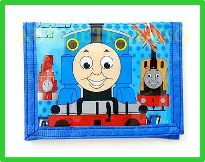 new Superman Thomas The Tank cartoon Wallet boys kids tri-fold coin purse