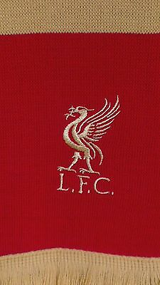 Liverpool FC Premier League Official Merchandise Red Gold Bar Scarf BNWT