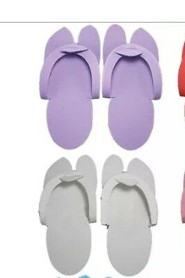 10 x Packs Of 12 Pairs Of Pedicure Thongs (mauve Only)