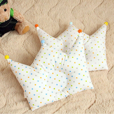 0-12M Baby Bed Pillows Newborn Boys Girls Crown Shaping Pillow Prevent Flat Head