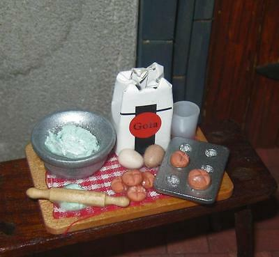 dolls house BAKING SET kitchen scullery cook  NEW